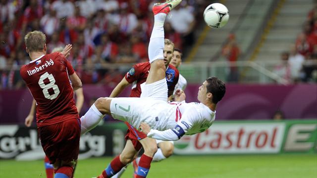 Cristiano Ronaldo Beats Czech Republic
